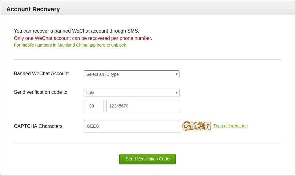 Come sbloccare account Wechat