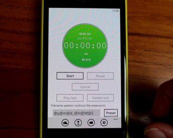 App registratore su Nokia Lumia