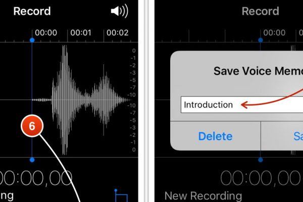 App registratore audio su iPhone
