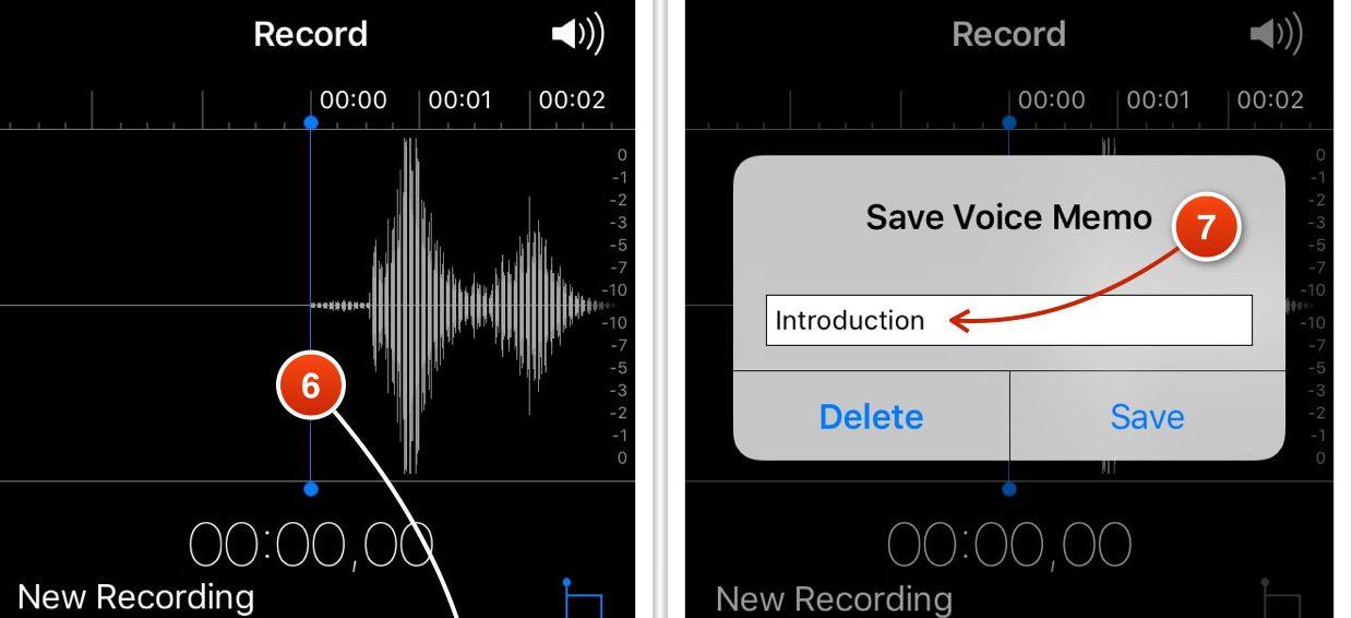 App registratore audio su iPhone
