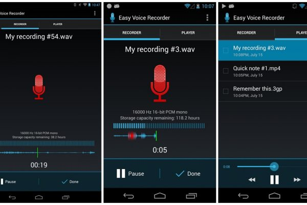 Registratore audio su Android