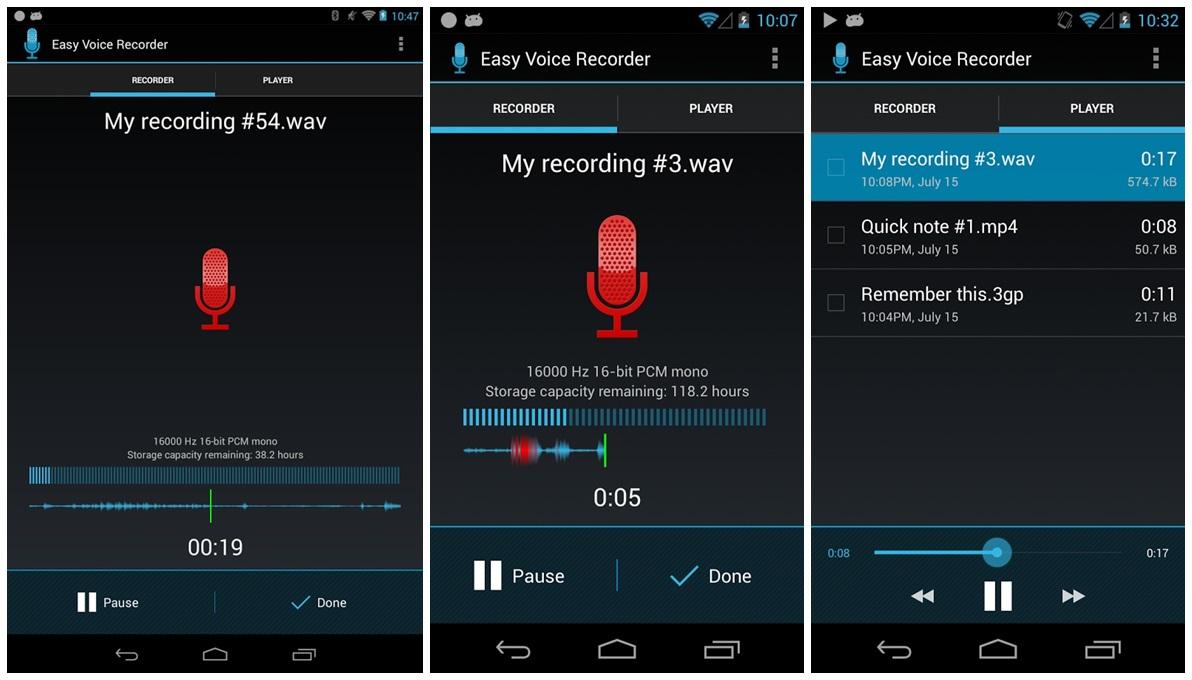 Registratore audio su Android