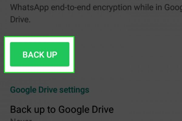 Come cambiare ora backup whatsapp