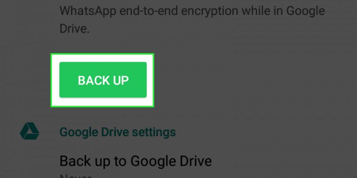 Come cambiare ora backup whatsapp