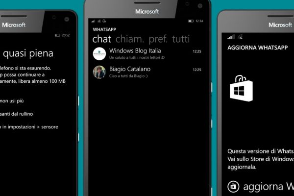 backup e ripristino chat di WhatsApp su Windows Phone